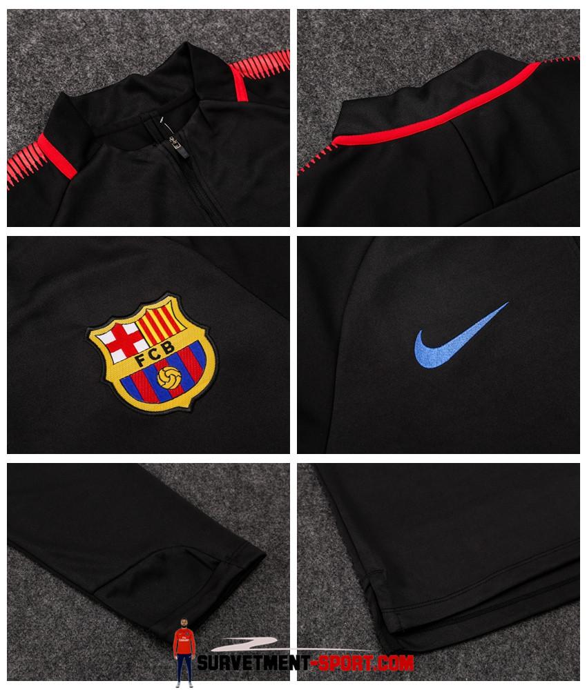 12f35e29a8a6 Nike Survetement de Foot Barcelone Noir Homme 2017/2018