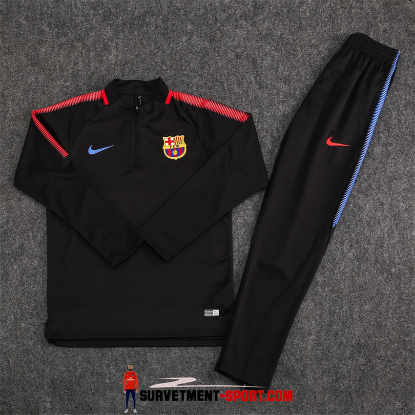 Ensemble Nike Survetements Football Barcelone 17/18 Noir