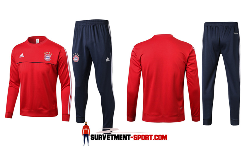 Nouveau Ensemble Survetement Bayern Munich Rouge 2017/2018