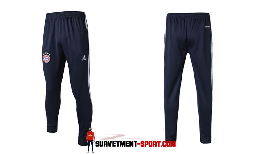 Adidas Pantalon de Foot Survetement Bayern Munich Bleu Marine 2017 2018