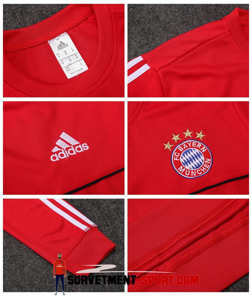 Ensemble Adidas Survetements Football Bayern Munich 17/18 Rouge