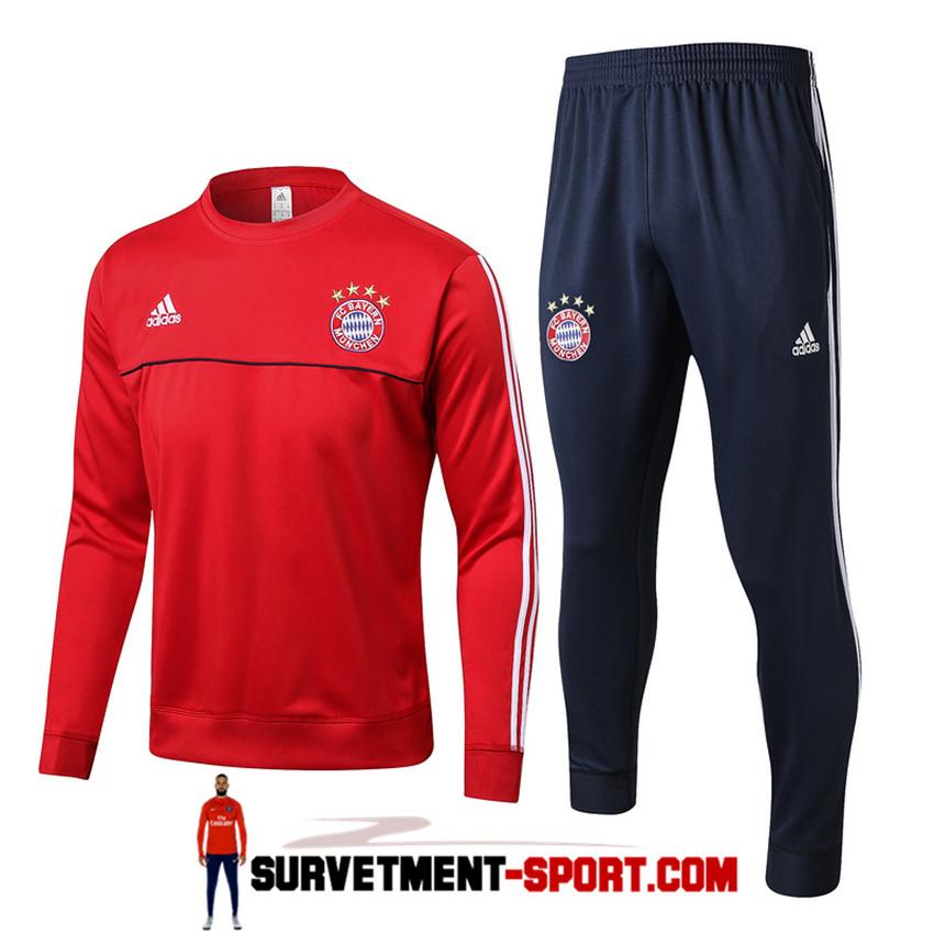 Adidas Nouveau Survetement de Foot Bayern Munich Rouge Homme 2017/2018