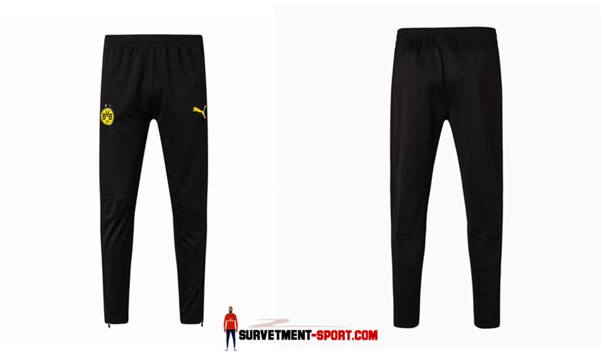 Puma Pantalon de Foot Survetement Dortmund Noir 2017 2018