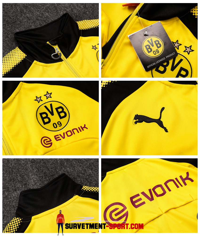 Ensemble Puma Survetements Football Dortmund BVB 17/18 Jaune