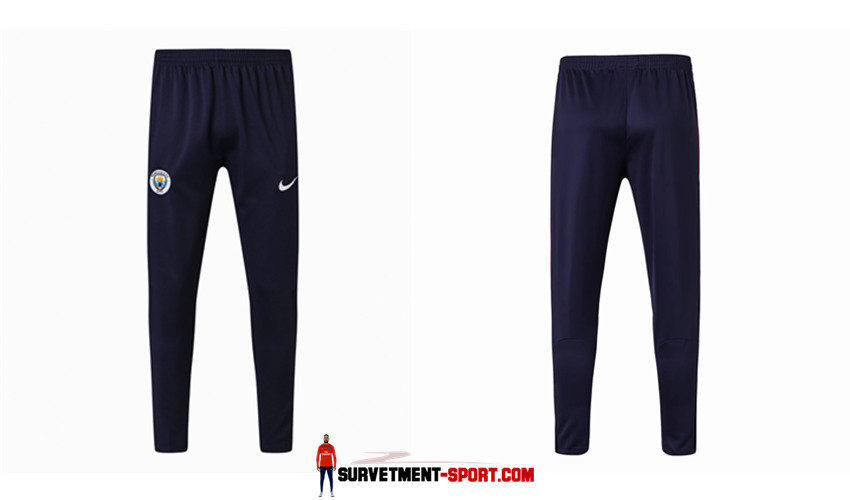 Nike Pantalon de Foot Survetement Man City Bleu Fonce 2017 2018