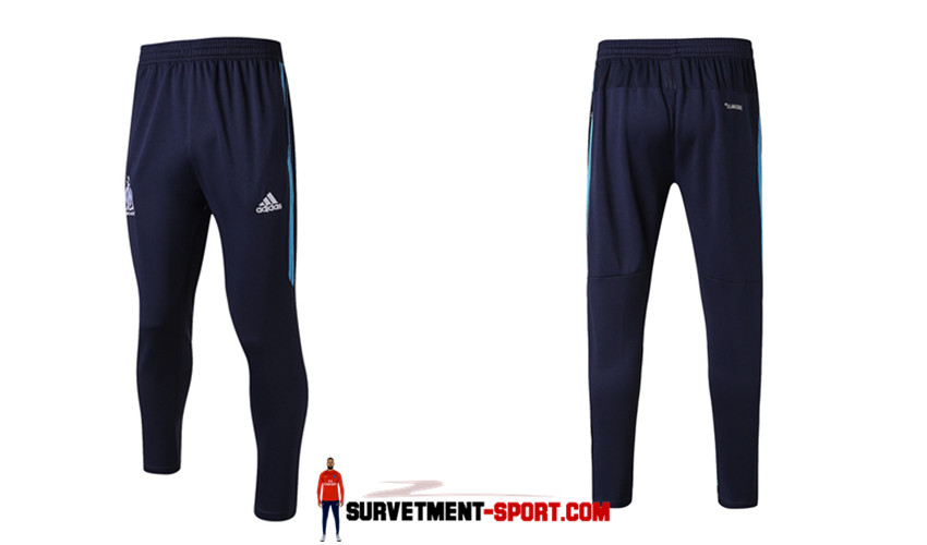 Adidas Pantalon de Foot Survetement Marseille Bleu Marine 2017 2018