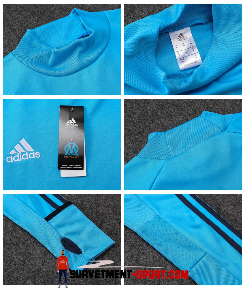 Ensemble Adidas Survetements Football Marseille 17/18 Bleu