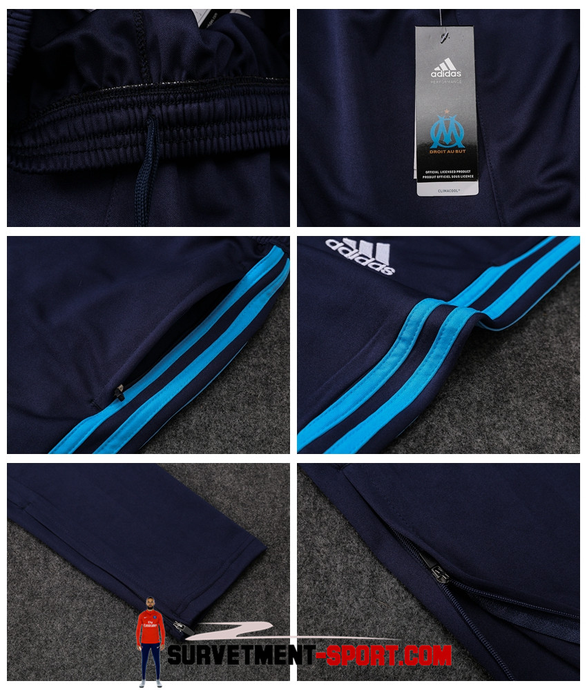 Adidas Pantalon Marseille Bleu Marine 2017 2018