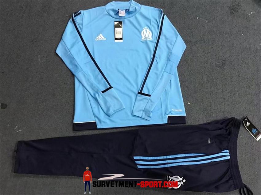 Nouveau Survêtement Olympique de Marseille Bleu 2017