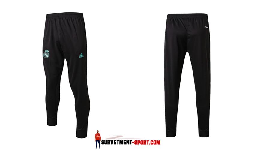 Adidas Pantalon de Foot Survetement Real Madrid Noir 2017 2018