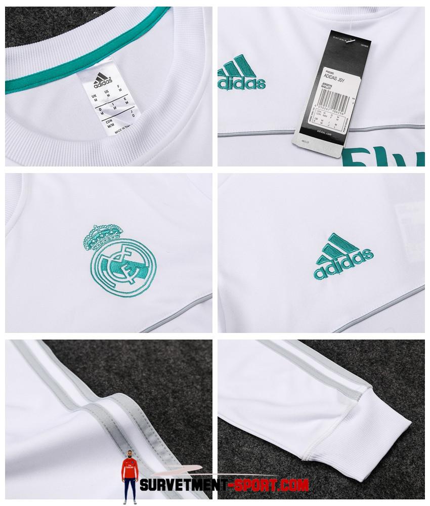 Adidas Survetement de Foot Real Madrid Blanc Homme 2017/2018