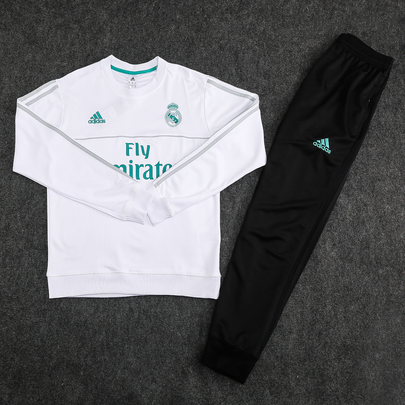 Adidas Ensemble Survetements Foot Real Madrid Blanc 2017 2018