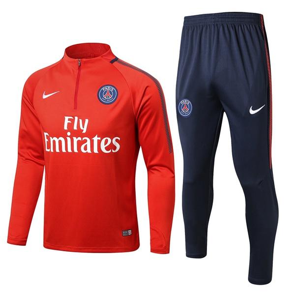 770363c316725 Nike Nouveau Survetement Foot PSG Rouge 2017 2018