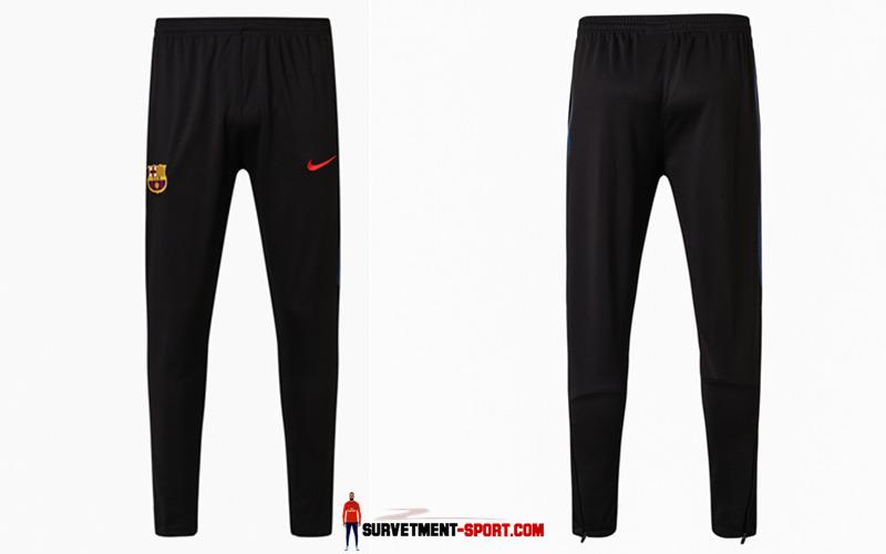 Nike Pantalon de Foot Survetement du FC Barcelone Noir 2017 2018