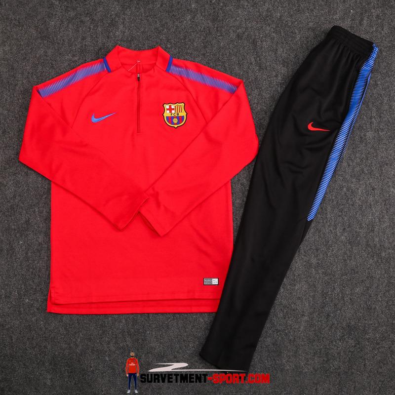 Ensemble Nike Survetements de Football FC Barcelone 17/18 Rouge