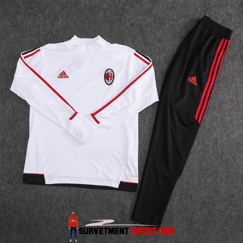 Ensemble Nike Survetements Football Milan AC 17/18 Blanc