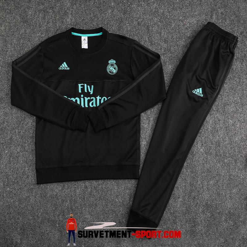 Nouveau Adidas Survêtement Real Madrid 2017 Noir