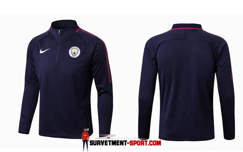 Nike Survetement de Foot Manchester City Bleu Fonce Homme 2017/2018