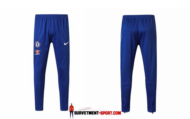 Pantalon de Foot Survetement Fc Chelsea Bleu 2017 2018