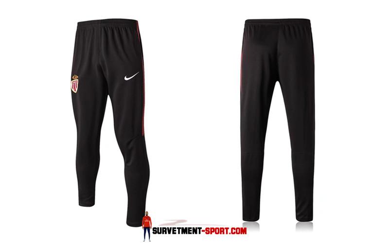 Nike Pantalon de Foot Survetement AS Monaco Noir 2017 2018