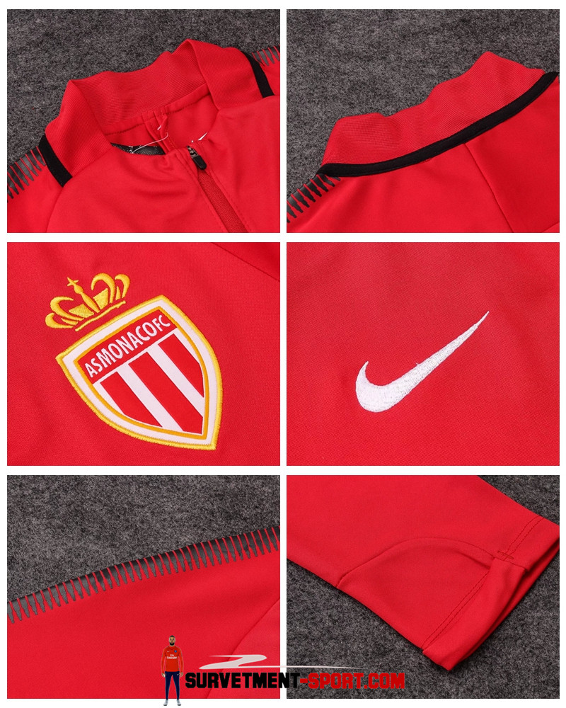 Nouveau Nike Survêtement AS Monaco 2017 Rouge