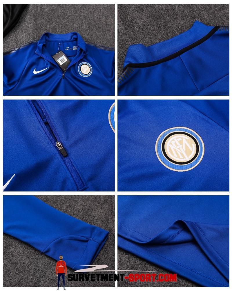 Nouveau Ensemble Survetement Inter Milan Bleu 2017/2018