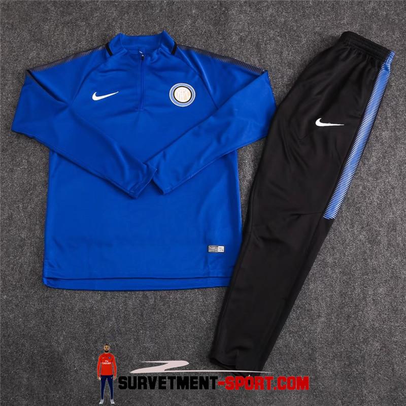 Ensemble Nike Survetements Football Inter Milan 17/18 Bleu