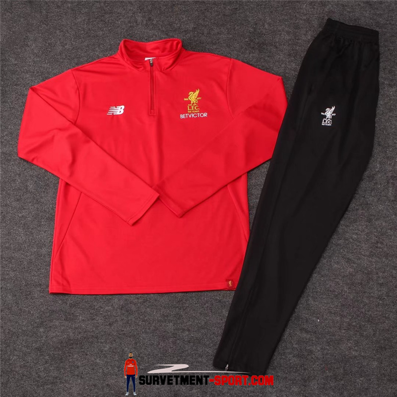 Ensemble New Balance Survetements Football FC Liverpool 17/18 Rouge