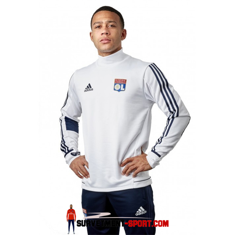 Ensemble Adidas Survetements Football Lyon OL 17/18 Blanc
