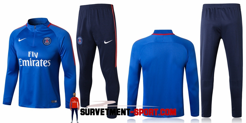 Survetement Nike PSG Bleu 20172018 | FootKorner