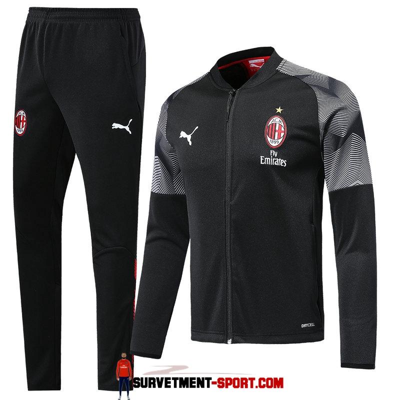 Nouveau Survetement Veste Foot AC Milan 20192020 Noir